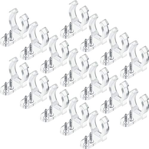 150 Pieces 1/2 InchLED Rope Light Clips Holder with 300 Pieces Screws Clear PVC Mounting Rope Light Mounting Clips for Wall Mount LED Light, Family Parties and Wedding Ceremonies