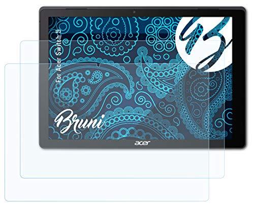 Bruni Schutzfolie für Acer Switch 5 Folie, glasklare Bildschirmschutzfolie (2X)