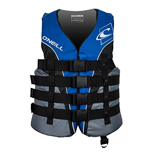 O'Neill Men's Superlite USCG Life Vest, Pacific/Smoke/Black/White,X-Large