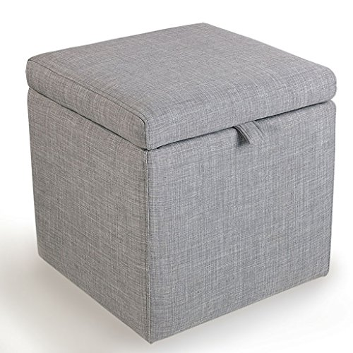LYQQQQ Ottoman Low Stool/Cloth Incorporated For Shoe Stool/Small Sofa Stool Storage Stool/Fashion Bed Stool/Dressing Stepping On The Bench (Color : Dark Gray)