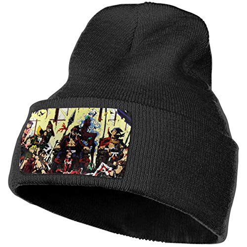 JoyRDaniels Gurren Lagann Beanie Hat Unisex Warm Knit Hat Thick Knit Skull Cap Black