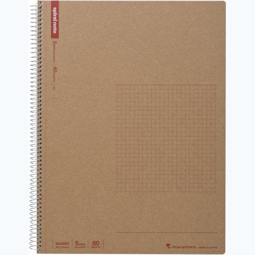 マルマン ノート リングノート 5mm 方眼罫 ベーシック A4 80枚 N245ES