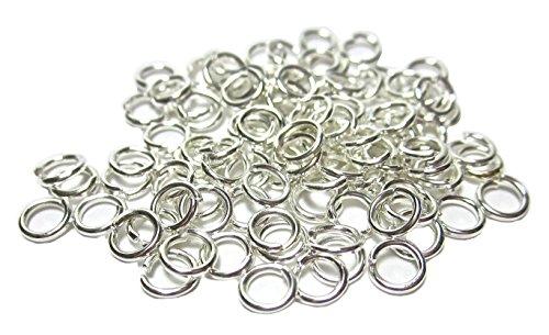Ufener lot de 100 mm vis ouverts argenté 4 œillets anneaux geralin gioielli anneaux fendus