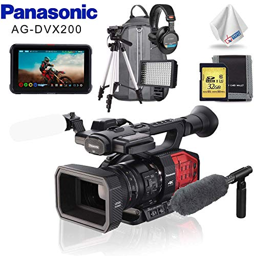 Best Buy! Panasonic AG-DVX200 4K Camcorder with Four Thirds Sensor and Integrated Zoom Lens + Atomos...
