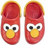Sesame Street Toddler Clog Elmo,Molded Clog with Backstrap,Red,Toddler Size 7