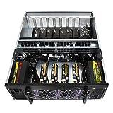 DBG Eth GPU Mining Rig Set Completo Barebone USB GPU Miner con la Placa Base B250 BTC-D8P 12 GPU 4U Funda de Servidor de minería para la minería de Eth