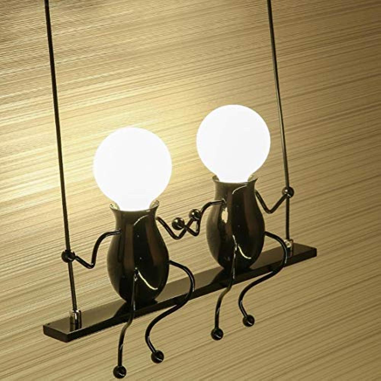 BMQXX Wandleuchten Klassisch Kreativ Doppeltem Design Deluxe LED Schwingen Wandleuchte Edison Wandlampe Innen Minimalistische Metall Anhnger Einstellbar Wandbeleuchtung 2E27 Sconces max. 40 Watt