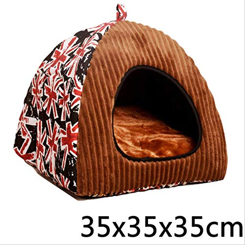 Pet Dog Bed Foldable Dog House Indoor And Outdoor Portable Travel Convenient Supplies Small Footprint Pet Bed Tent Cat Kennel 35x35x35cm
