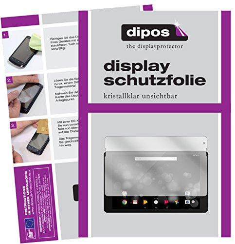 dipos I 2X Schutzfolie klar kompatibel mit TrekStor PrimeTab P10 Folie Bildschirmschutzfolie