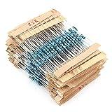 560pcs 56 Valori 1 ohm - 10M ohm 1/4W Kit di Resistori a Pellicola Metallica [Classe di efficienza energetica A]
