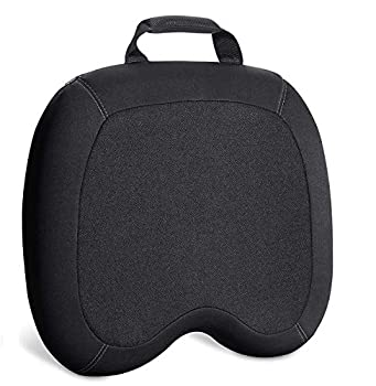 Elantrip Memory Foam Seat Cushion Washable Chair Pad Chair Pillow for Sciatica Coccyx Back & Tailbone Pain Relief Orthopedic ,with Car Truck Office Desk Chair  Black