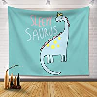 0.7-2M漫画かわいい壁装材背景布インハンギングクロス北欧の寝室の部屋の装飾タペストリー-Dinosaur_2.0M * 1.5M