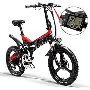 TTW Elektrofahrrad 20 x 2,4 Zoll zusammenklappbares Mountainbike Erwachsene 400W 48V 10,4Ah Li-Ionen-Batterie Stadt E-Bike Shimano 7-Gang 35 km/h Frau Mann Pendler Fahrrad Last 330 lbs
