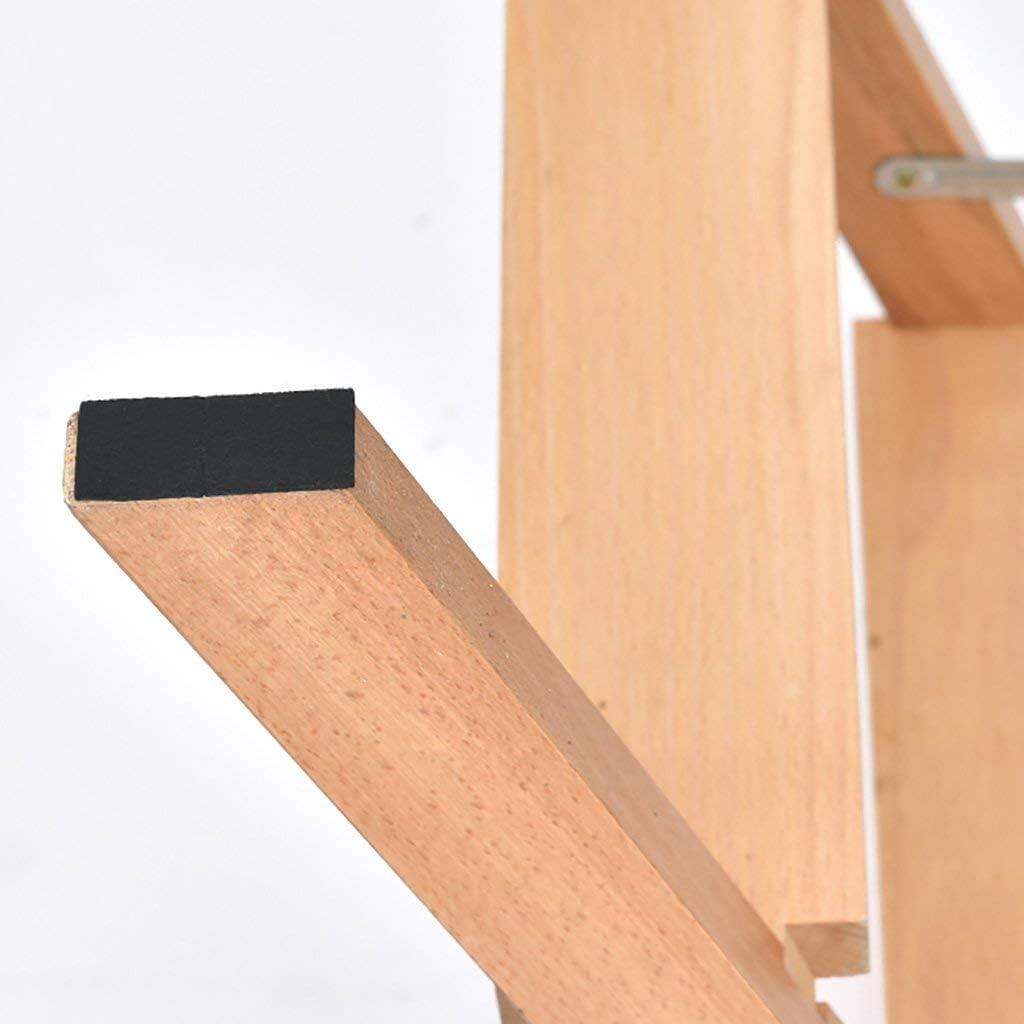 WLD Escabeau, tabouret haut pliant en bois, chaise multifonctionnelle adulte de tabouret portatif de cuisine à la maison,A C