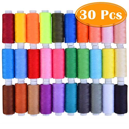 Lowest Price! Telagpru 40s/2 Polyester Sewing Threads 350 Meters High Strength Embroidery Thread 12p...