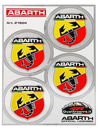 Abarth 21504Juego 4pegatinas scudetti diámetro 48
