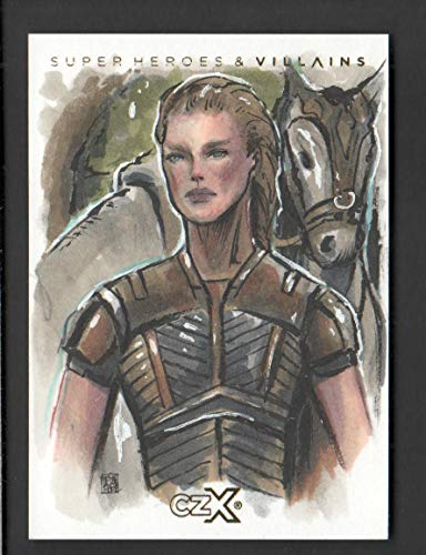 2019 CZX Super Heroes and Super-Villains Sketch Card Melike Acar 1/1