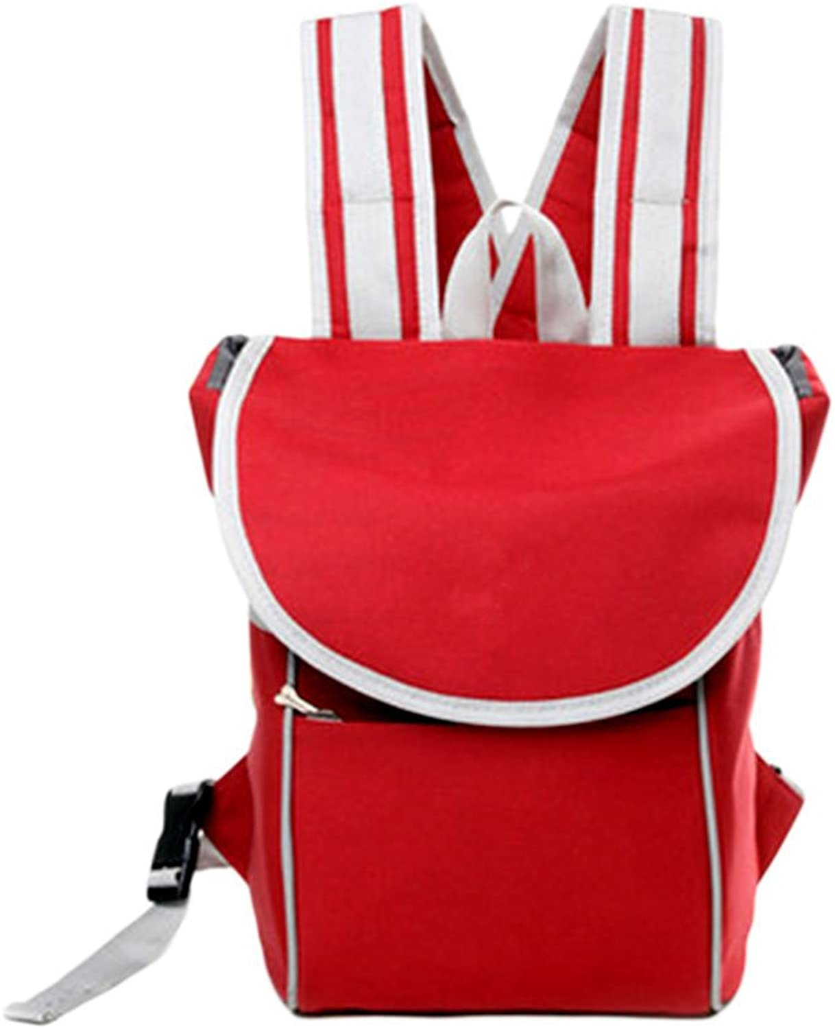 Meijunter Red Fashion Outdoor Pet Cat Puppy Portable Front Carrier Mesh Backpack Travel Bag