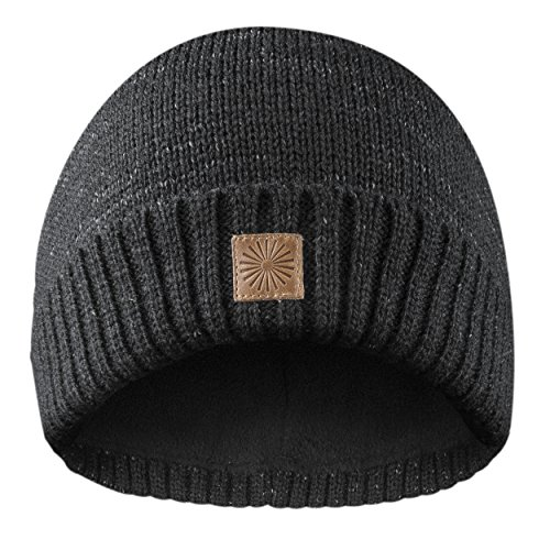Rubberneck Flash Beanie Mütze reflektierend aus Wolle mit Innenfleece, One Size, Damen und Herren (Schwarz)