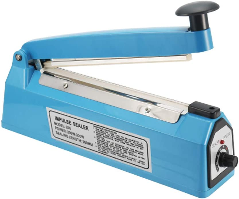 ChoJiah 8 inch Impulse Bag Sealer Poly Bag Heat Sealer Sealing Machine Heat Seal Closer with One Repair Kit