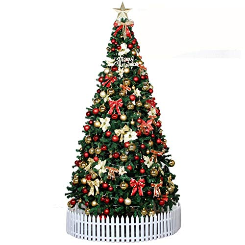 DULPLAY Albero Di Natale Decorazione Natale 3M3.5 M M 4,5 Metri Con Copertina Rigida Pacchetto Festivo Hotel Hotel Shopping Puntelli Di Decorazione Di Scena-A 300Cm(118Inch)