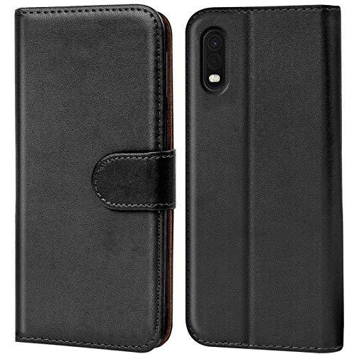Verco Samsung XCover Pro Hülle, Handyhülle für Samsung Galaxy XCover Pro Tasche PU Leder Flip Hülle Brieftasche, Schwarz