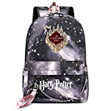 Mochila de Ocio para Estudiantes de Hogwarts, Mochila Harry Potter Grey Starry Sky,...