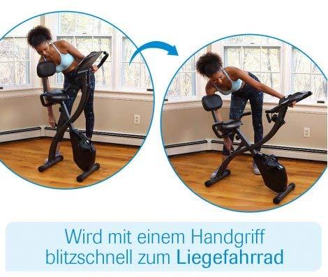 Mediashop Slim Cycle Heimtrainer, Liegefahrrad und Oberkörper-Trainer | zusammenklappbar | Radfahren und Ruderbewegung für effektives Kardio- & Krafttraining | Das Original aus dem TV - 2