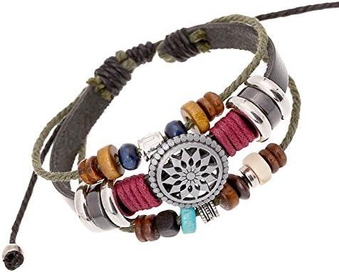 FEIBIZI Multilayer Boho Bohemian Charm Strand Bracelet Set Gifts