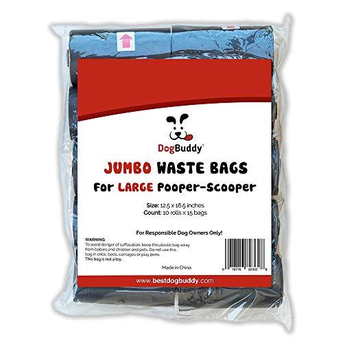 DogBuddy Pooper Scooper Jumbo Refill Bags, 150 Bags