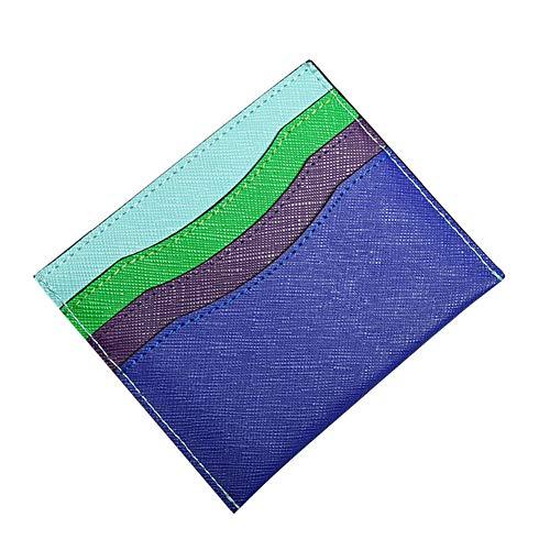 Kentop Ultra Delgada Carteras de Tarjetero Pequeño Multicolor Monedero de Moneda