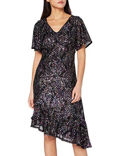 Naf Naf Loclair R1 Vestido de cóctel, Noir, XS para Mujer