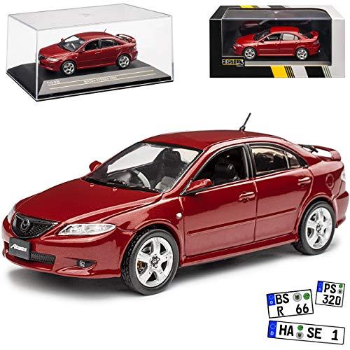 First 43 Mazda 6 Atenza Limousine Rot 1. Generation 2002-2007 1/43 Modell Auto mit individiuellem Wunschkennzeichen