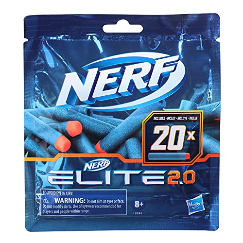Nerf Elite 2.0 20er Dart Nachfüllpackung – enthält 20 Nerf Elite 2.0 Darts, kompatibel mit Allen Nerf Elite Blastern