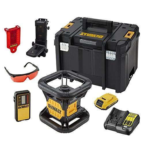 Dewalt DCE074D1R-QW Láser rotativo con batería 18V 2.0Ah, 18 V, Multicolor, Set de 3 Piezas