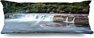 Ahawoso Zippered Body Pillow Cover 20x60 Inches Water Nz Blue Milford Landscape South Island New Zealand Nature Green Scenery Sound Alps Autumn Beach Decorative Cushion Case Home Decor Pillowcase