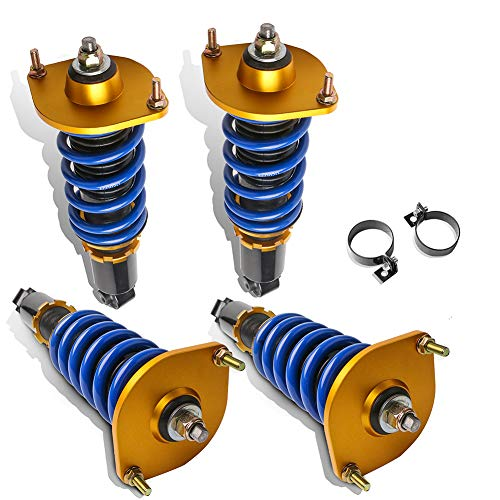 MOSTPLUS Full Coilovers Struts Compatible for Mazda Miata MX5 NA NB 1990-1997,1999-2005 Adjustable Height Shock Absorber Assembly (Set of 4)