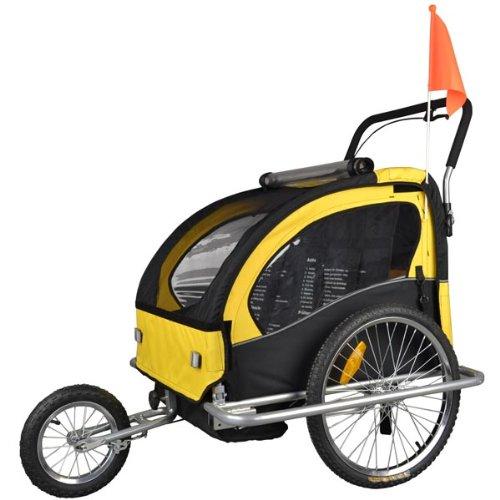 Tiggo Kinderanhänger mit Jogger Fahrradanhänger Anhänger 2 in1 502-04 JBT03A-D03