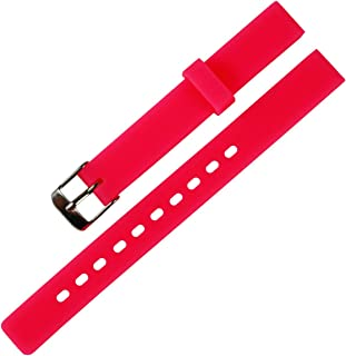 KHZBS Children's Candy Color Silicone Watch Band Waterproof Rubber Strap 12mm