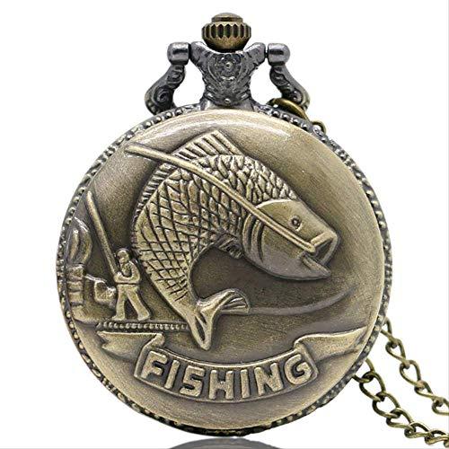 CHHD Alte antike Quarz Taschenuhr Analog Anhänger Beste Geschenkuhr mit Halskette