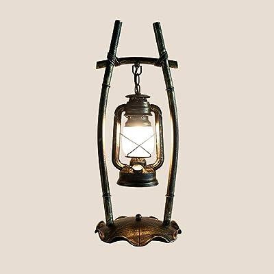 Mlimy Lámpara de Mesa Lámpara Antigua Retro Hierro Personalidad ...
