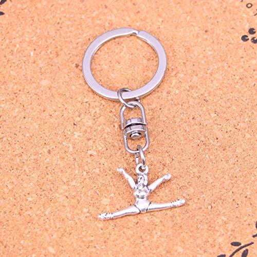 YCEOT Color Metal Vintage Gymnastics Sporter Schlüsselanhänger Zubehör & Verchromte Schlüsselanhänger