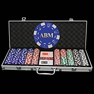 500 Holiday Custom Poker Chip Set - Full Name, Initials or Any Custom Text - Includes Poker chip and case Imprint
