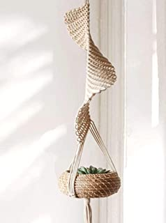 Flber Macrame Hanging Planter Home Décor Cotton Rope Handwoven,37