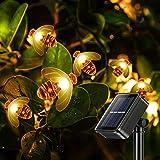innislink Cadena de luces solares para exteriores, con 30 ledes, 6,5 m, impermeable, para exteriores, para jardín, terraza, boda, fiesta, casa, fiesta, decoración – blanco cálido