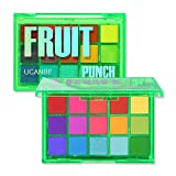 UCANBE Colorful 15 Shades Eyeshadow Makeup Palette,Shimmer Matte Metallic High Pigmented Neutral Bold Waterproof Eyes Shadow, Creamy Blendable Make Up Pallet Set (Fruit Punch)