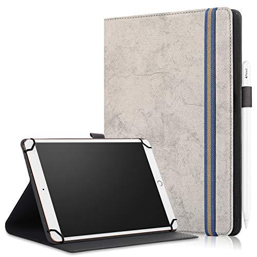 XTstore Funda Universal Tablet 9-10.1 Pulgadas, Smart Case Cover Carcasa Protectora para iPad Air 10.5,Samsung Tab A 10.1/Tab E 9.6',Huawei MediaPad T3/T5 10, Lenovo TB-X103F/Tab4 10, Gris