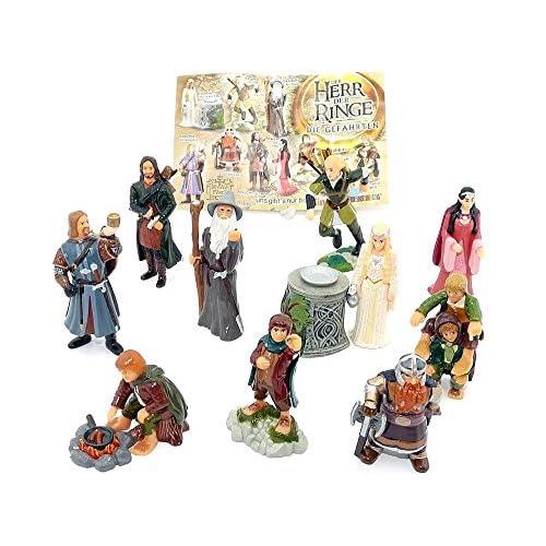 Sorpresa per bambini, tutti e 10 personaggi del Signore degli Anelli I con un BPZ (set completo).