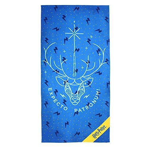 Cerdá 2200003920 Toalla Polyester Harry Potter, Azul, 70x140cm