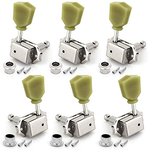 6Pcs Guitar 1: 18-String Tuning Key Pins Include 3L X 3R Replacement Parts For Electric Or Acoustic Guitars